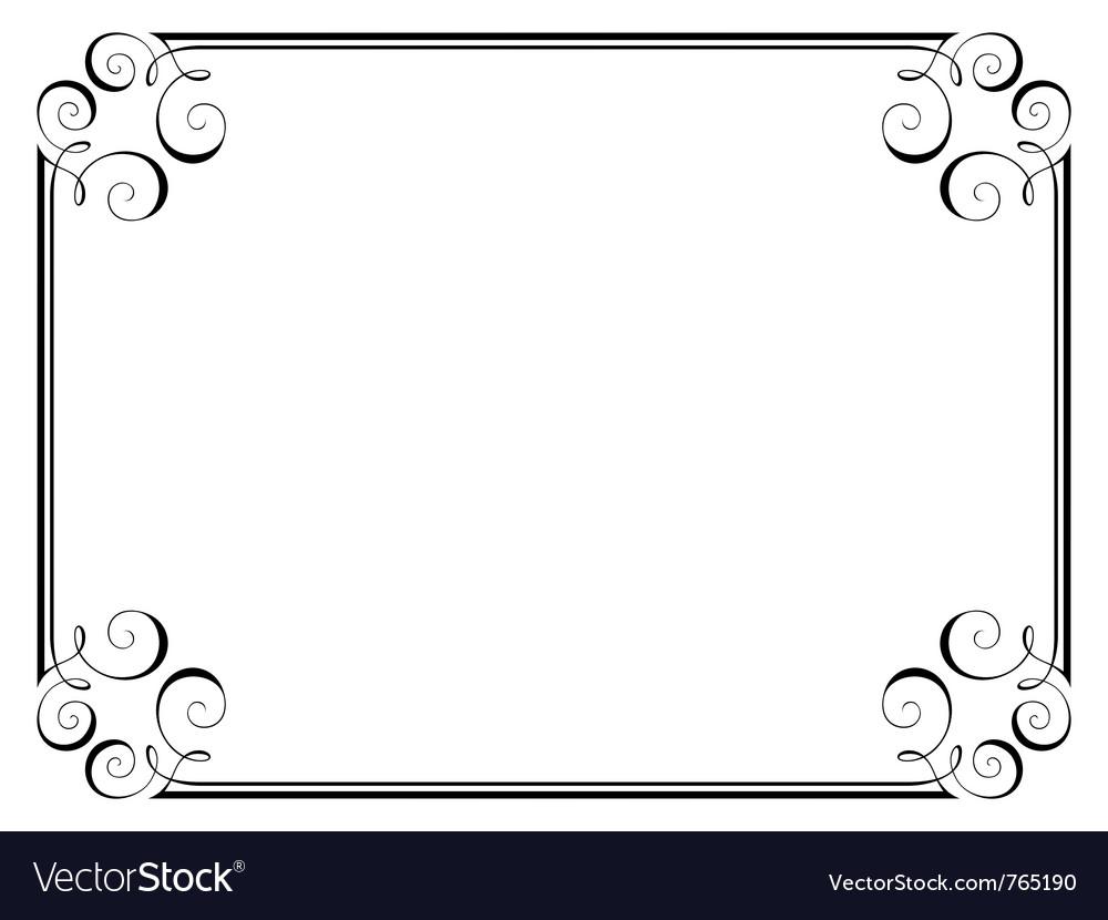 Calligraphy ornamental frame vector | Price: 1 Credit (USD $1)