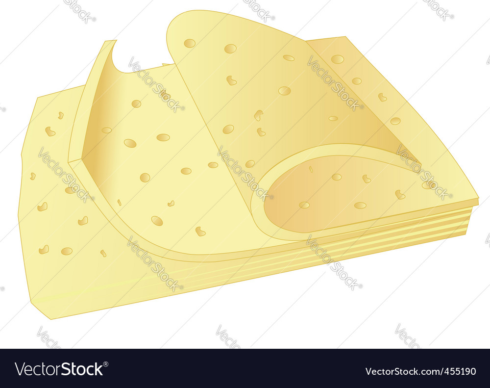 Cheese slices vector | Price: 1 Credit (USD $1)