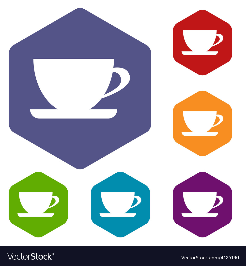 Cup rhombus icons vector | Price: 1 Credit (USD $1)