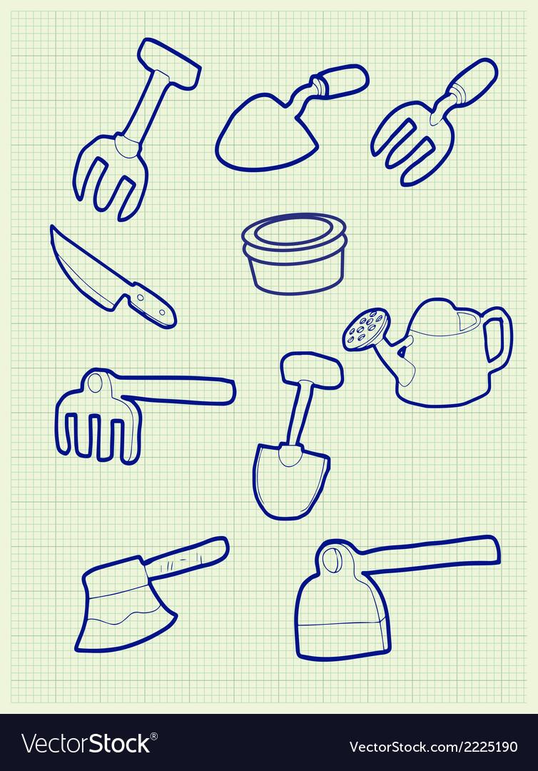 Gardening iconv vector | Price: 1 Credit (USD $1)