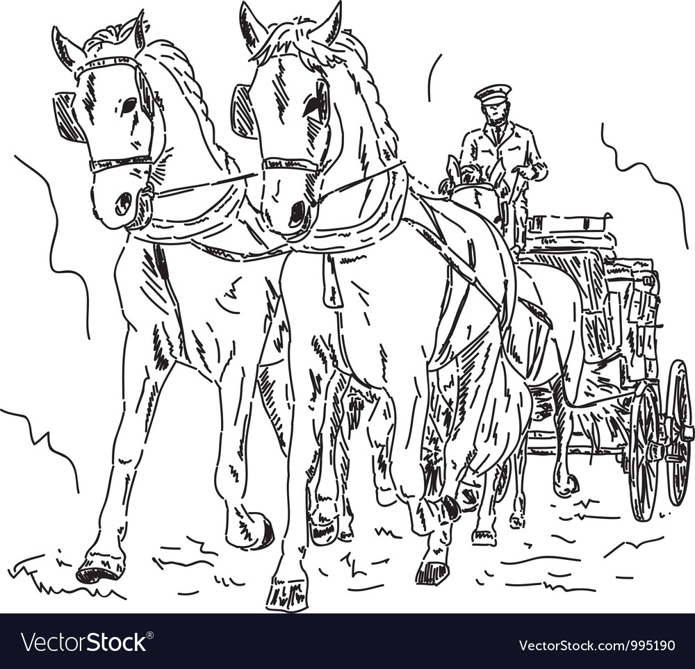 Horse carriage vector | Price: 1 Credit (USD $1)