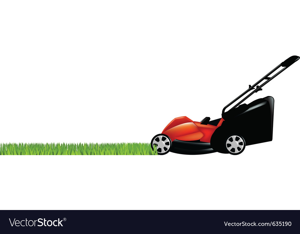 Lawnmower and grass vector | Price: 1 Credit (USD $1)