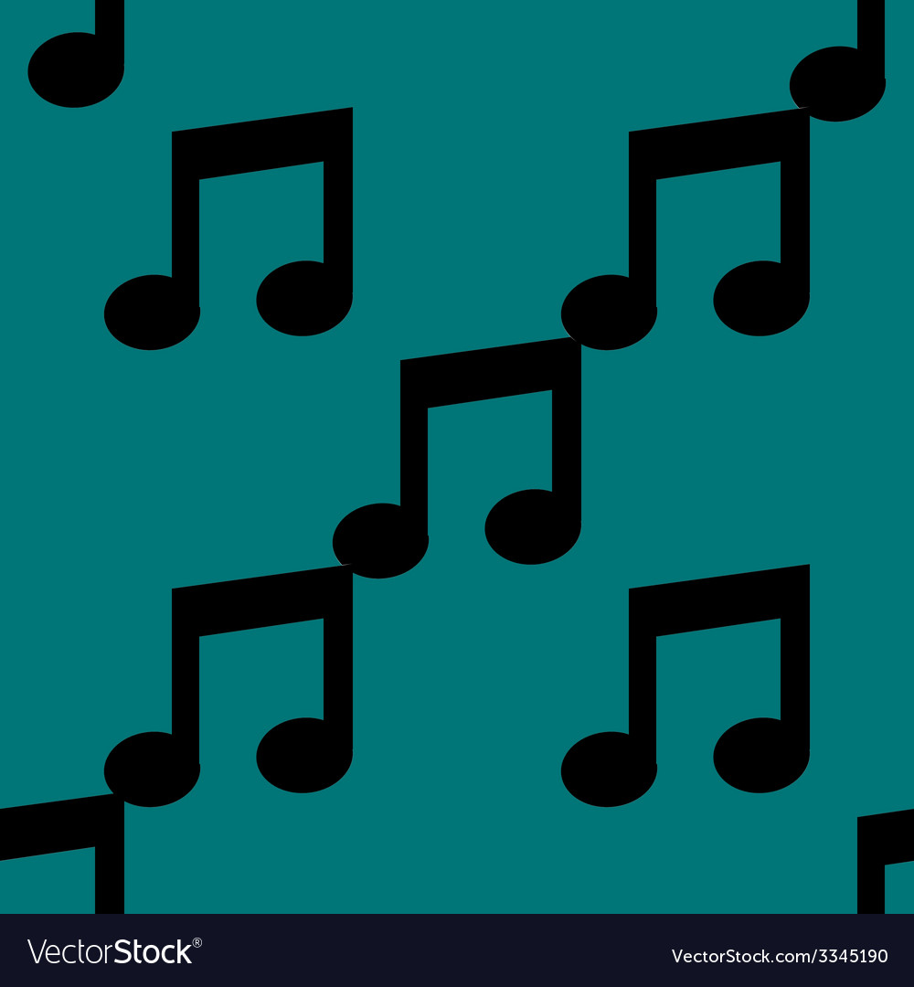 Music note web icon flat design seamless pattern vector | Price: 1 Credit (USD $1)