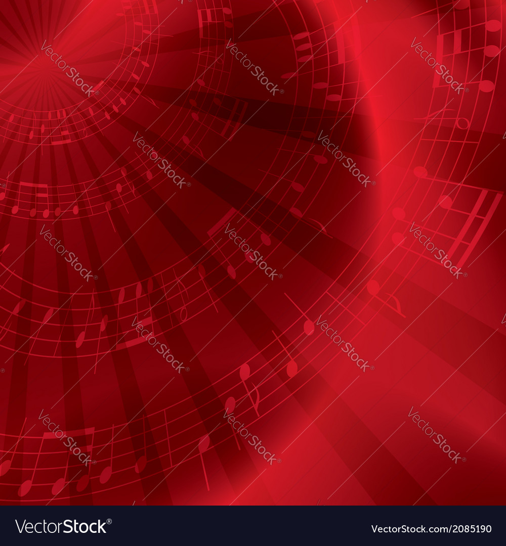 Red background with notes vector | Price: 1 Credit (USD $1)