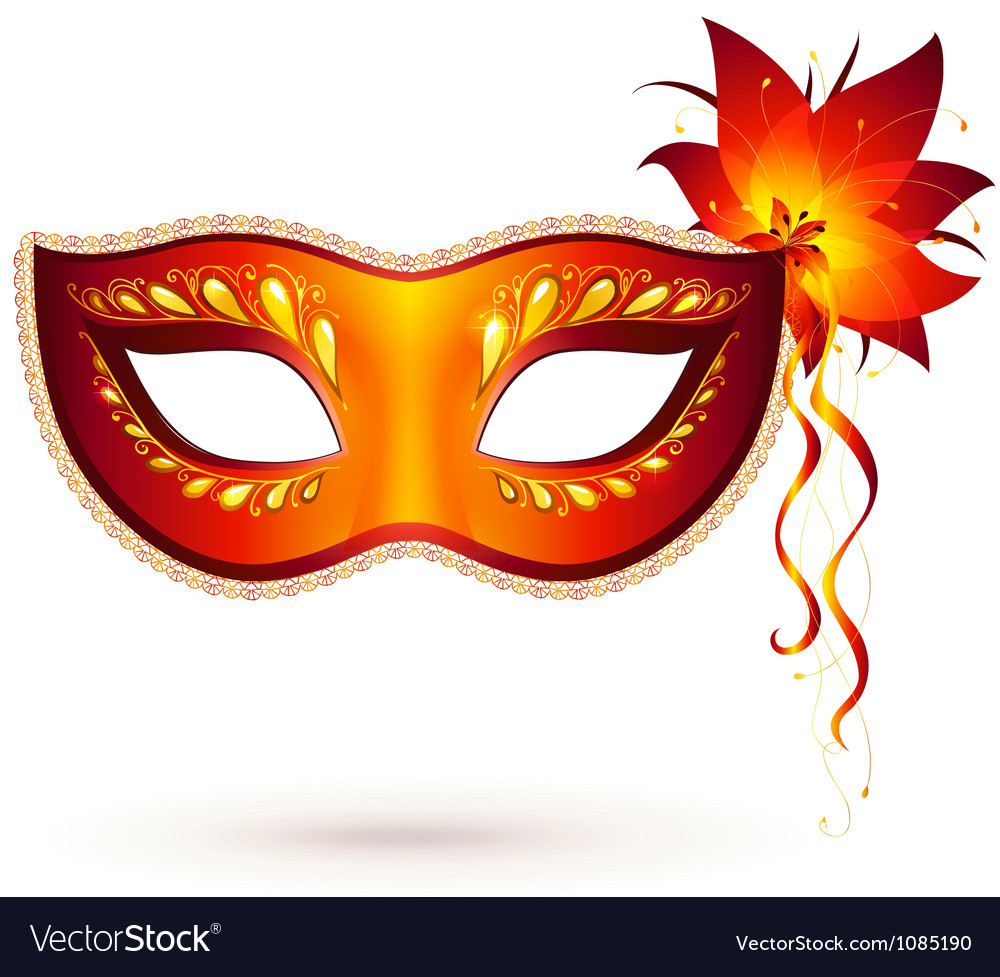 Red venitian carnival mask vector | Price: 1 Credit (USD $1)