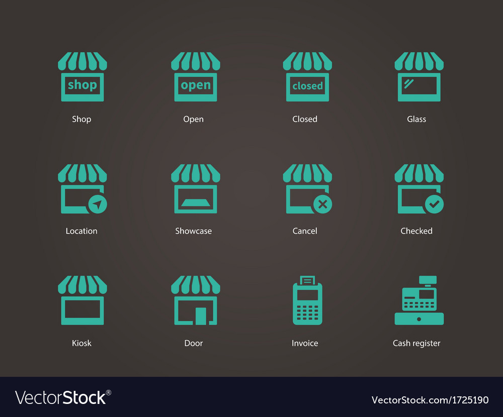 Shop icons vector | Price: 1 Credit (USD $1)