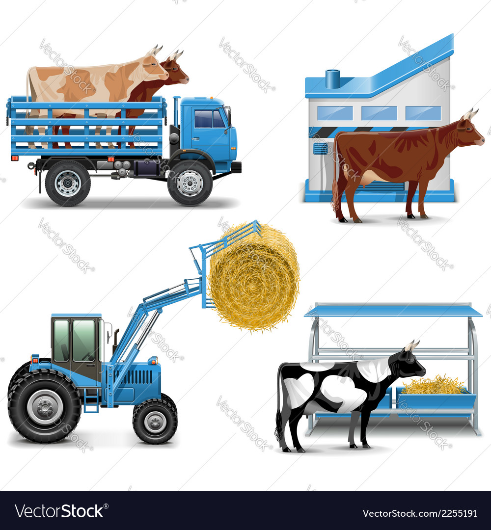 Agricultural icons set 3 vector | Price: 3 Credit (USD $3)