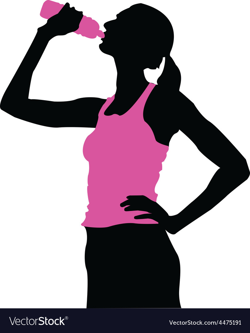 Athletic woman vector | Price: 1 Credit (USD $1)