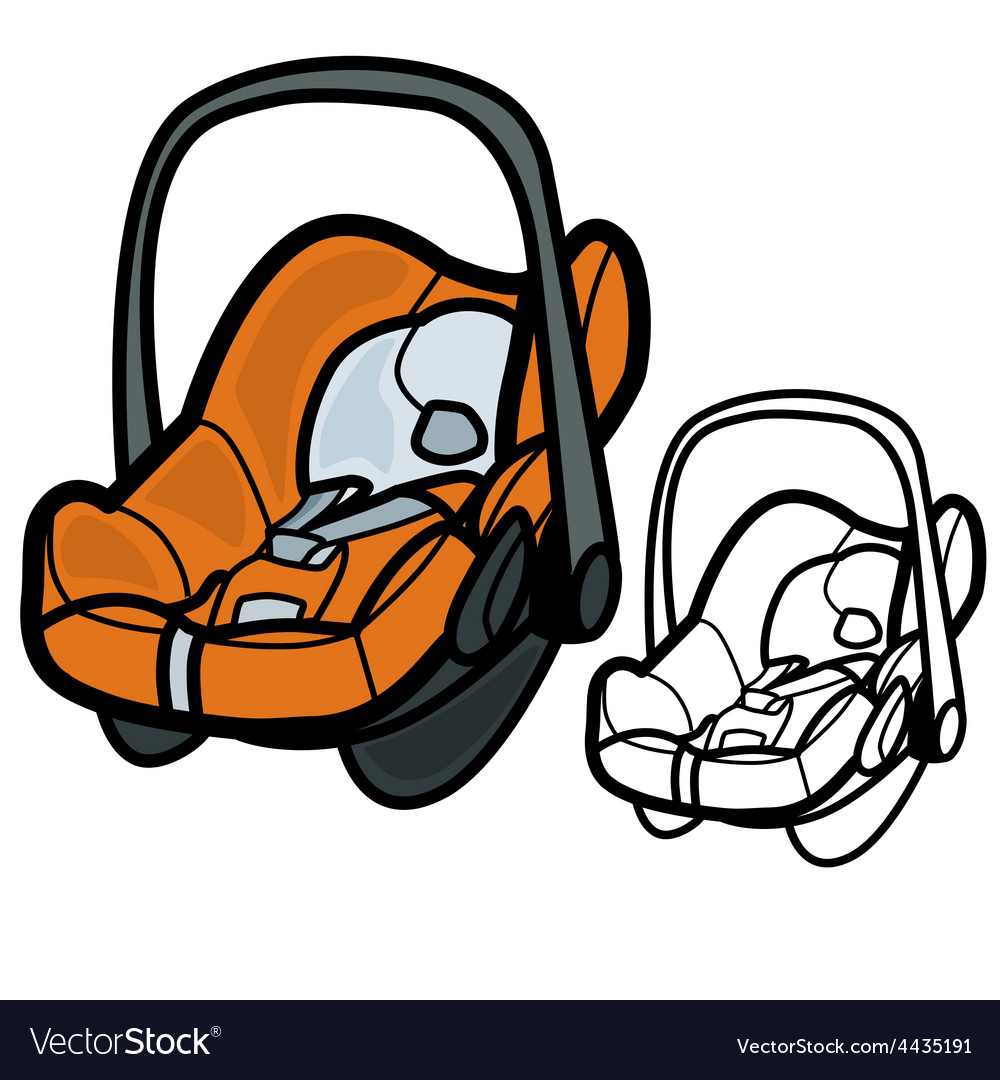 Baby car seat vector | Price: 1 Credit (USD $1)