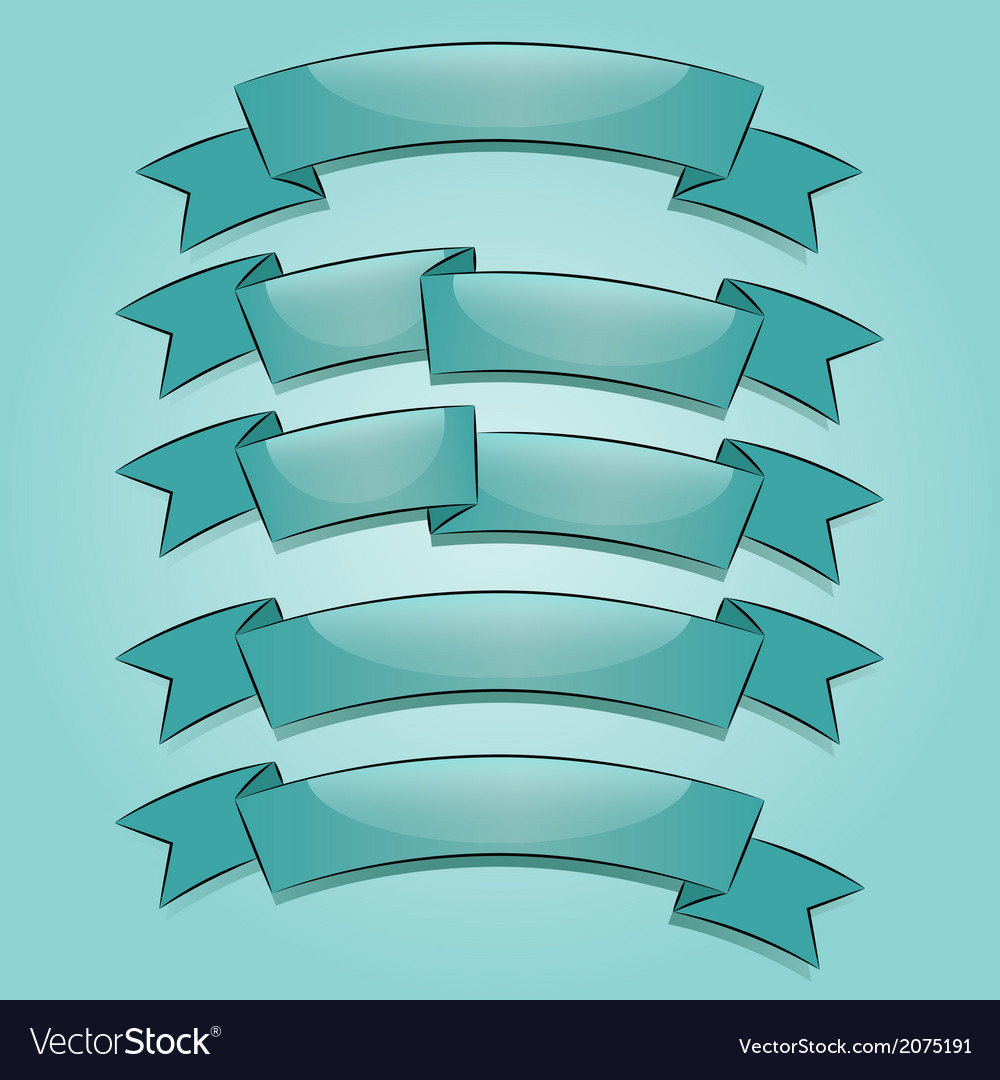 Banners or ribbons set vector | Price: 1 Credit (USD $1)