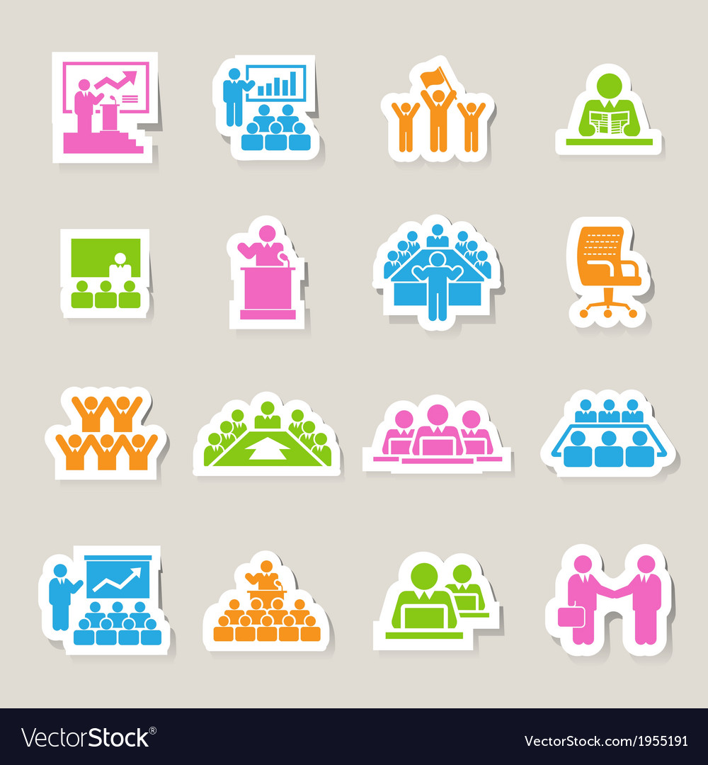 Business and management icons set vector | Price: 1 Credit (USD $1)