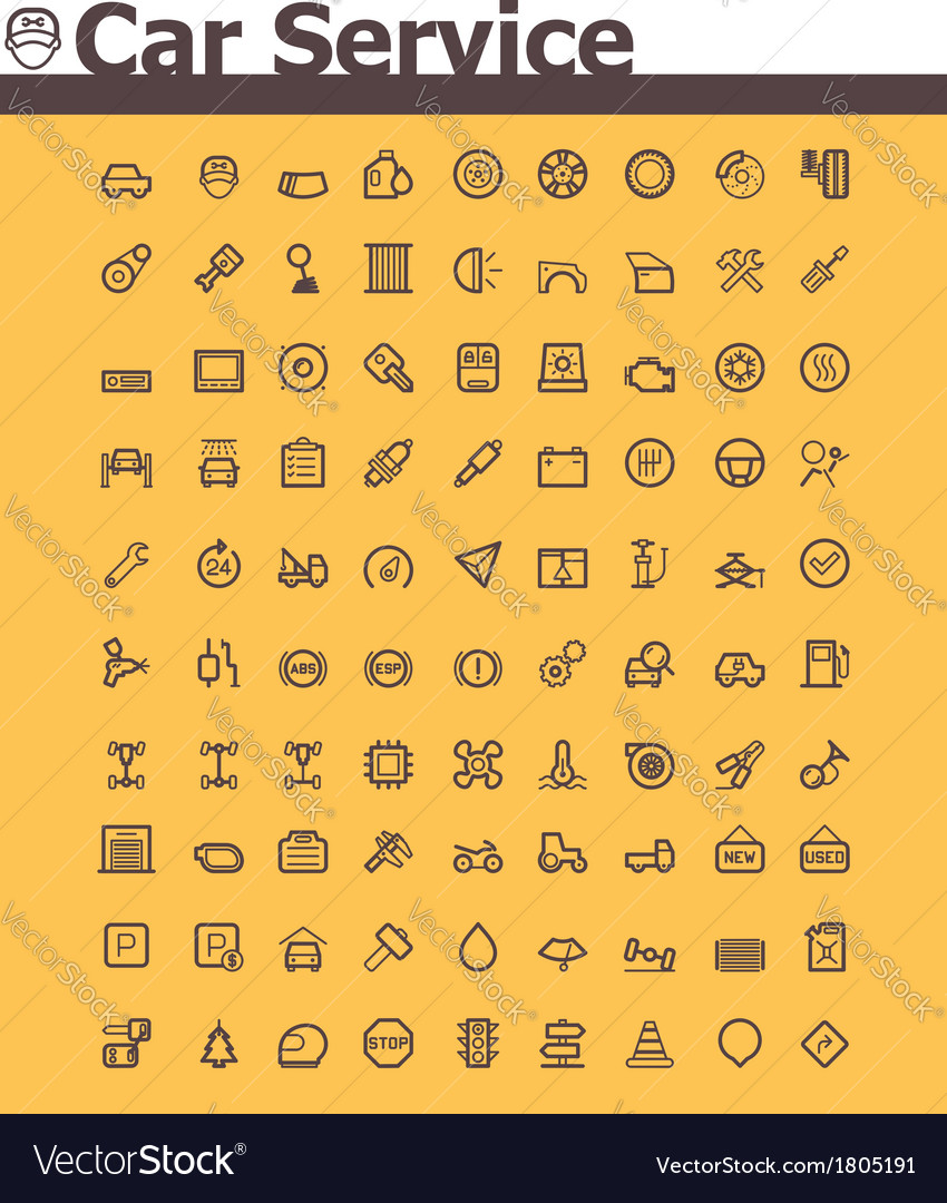 Car icon set vector | Price: 1 Credit (USD $1)