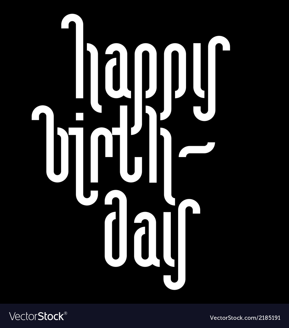 Happy birthday lettering vector | Price: 1 Credit (USD $1)