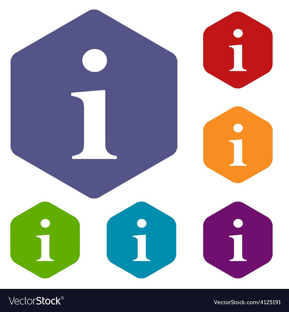 Info rhombus icons vector   Price: 1 Credit (USD $1)