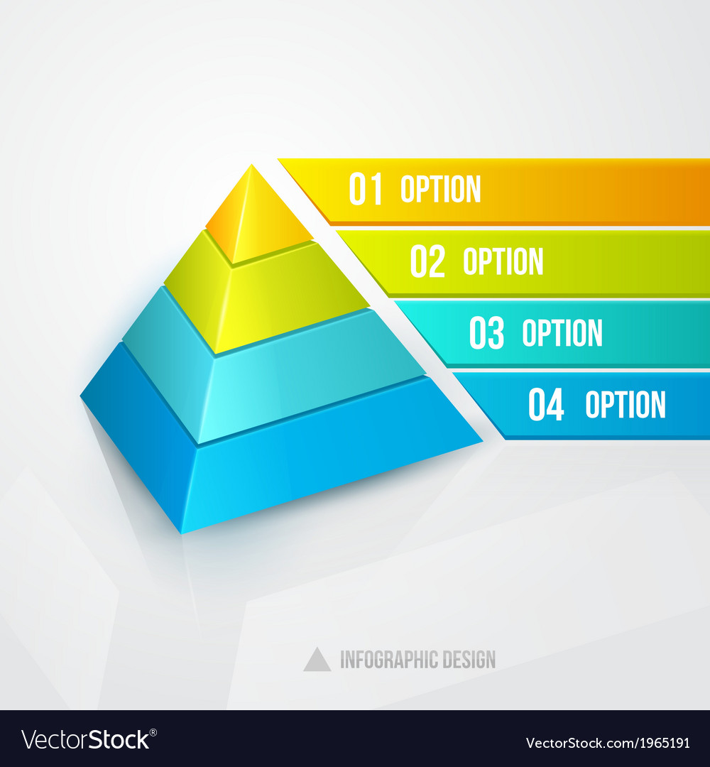 Pyramid infographic design template vector | Price: 1 Credit (USD $1)