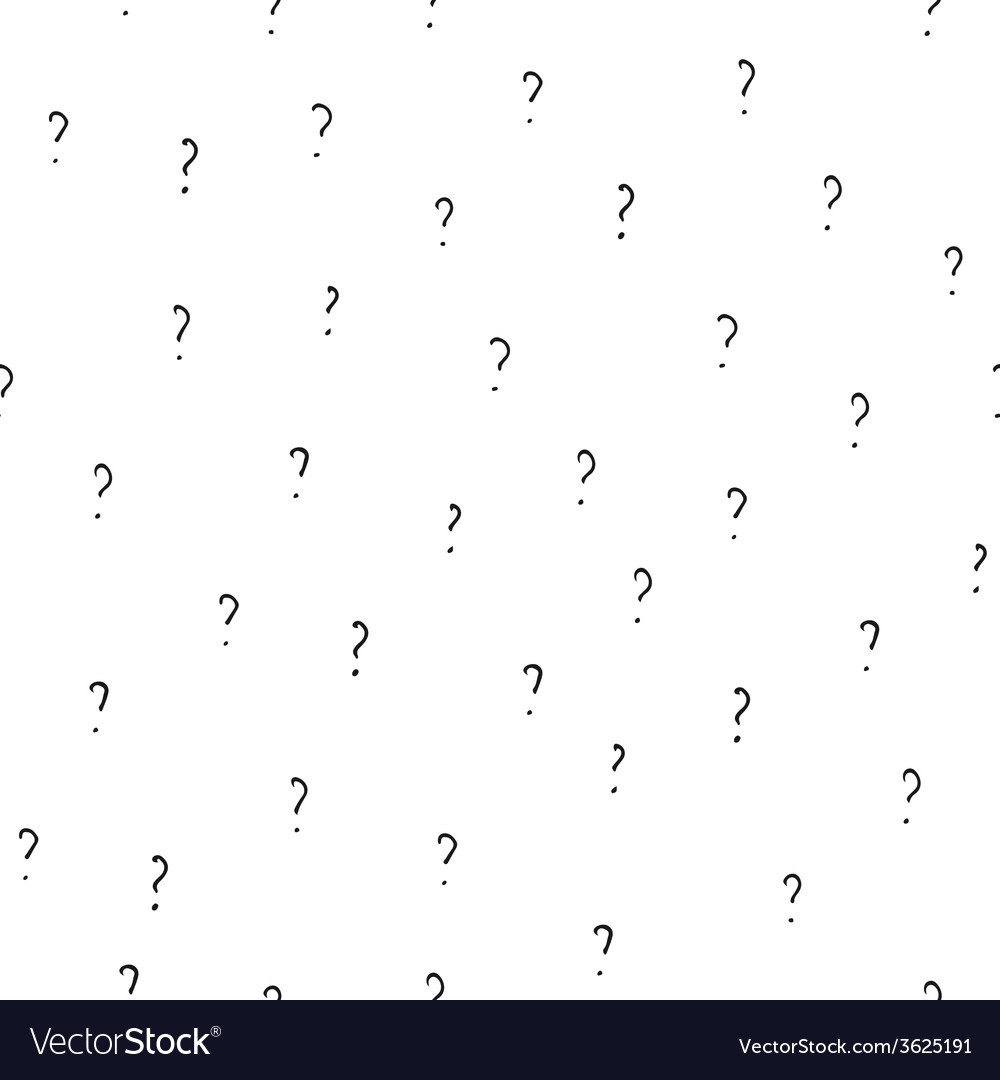 Question marks - hand drawn seamless vector | Price: 1 Credit (USD $1)