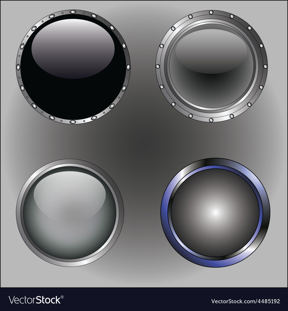 4 black buttons vector   Price: 1 Credit (USD $1)