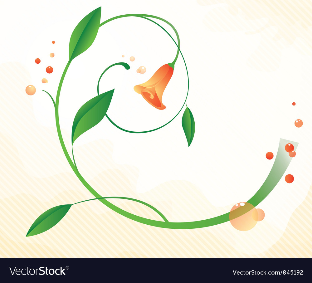 Abstract background with flower vector | Price: 1 Credit (USD $1)