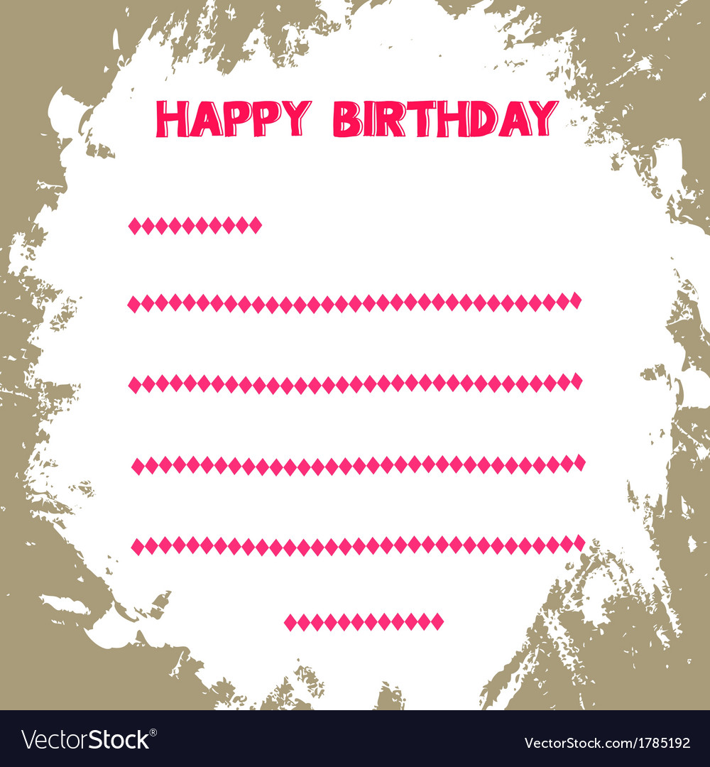 Birthday card1 vector | Price: 1 Credit (USD $1)