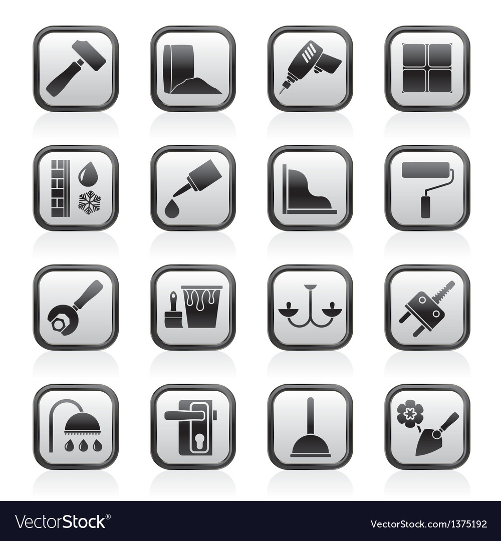 Construction and building equipment icons vector | Price: 1 Credit (USD $1)