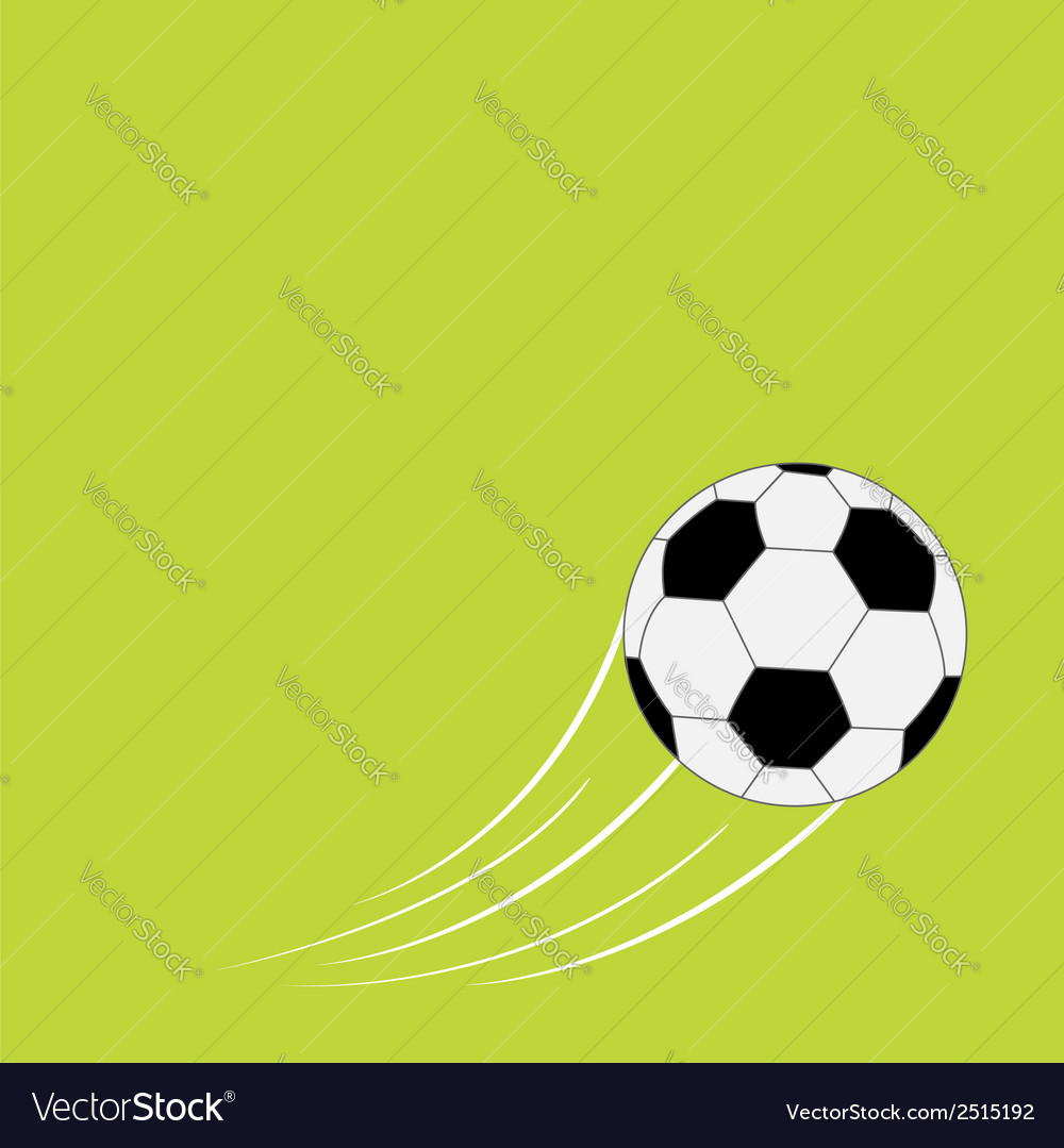 Flying football soccer ball with motion trails vector | Price: 1 Credit (USD $1)