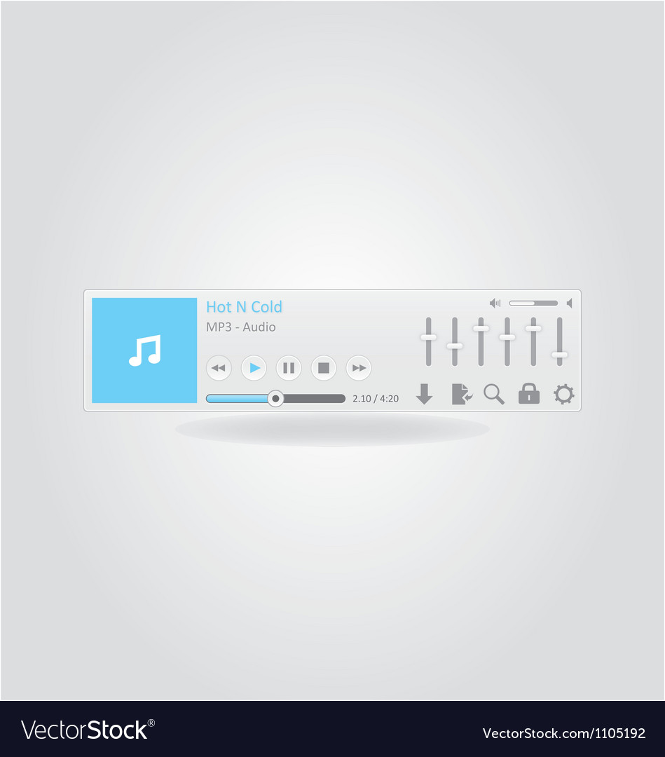 Music player 2 vector | Price: 1 Credit (USD $1)