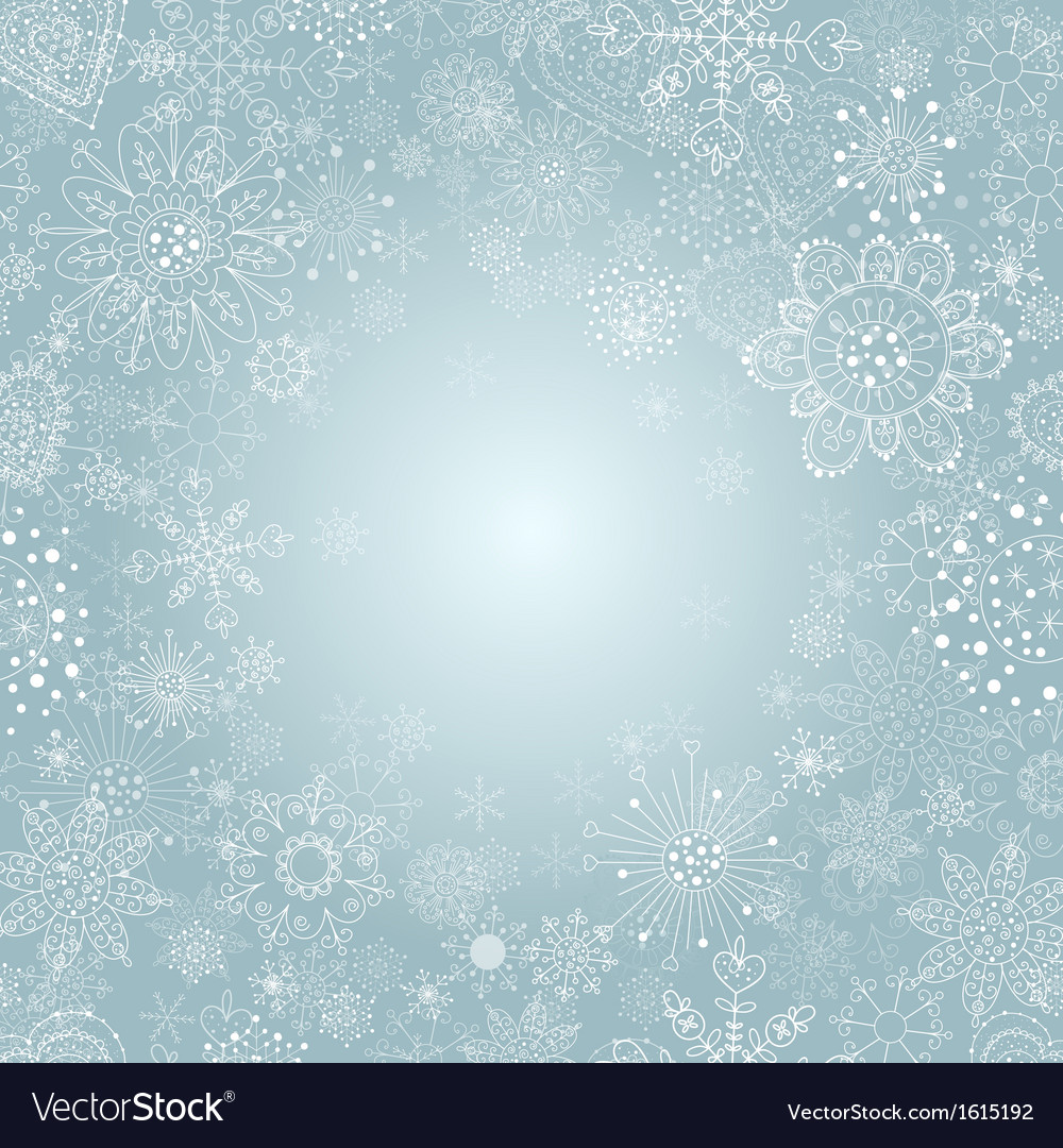 Winter background with snowflake vector | Price: 1 Credit (USD $1)