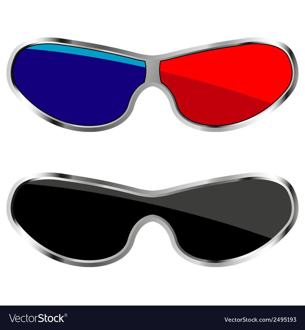 Anaglyph glasses vector | Price: 1 Credit (USD $1)