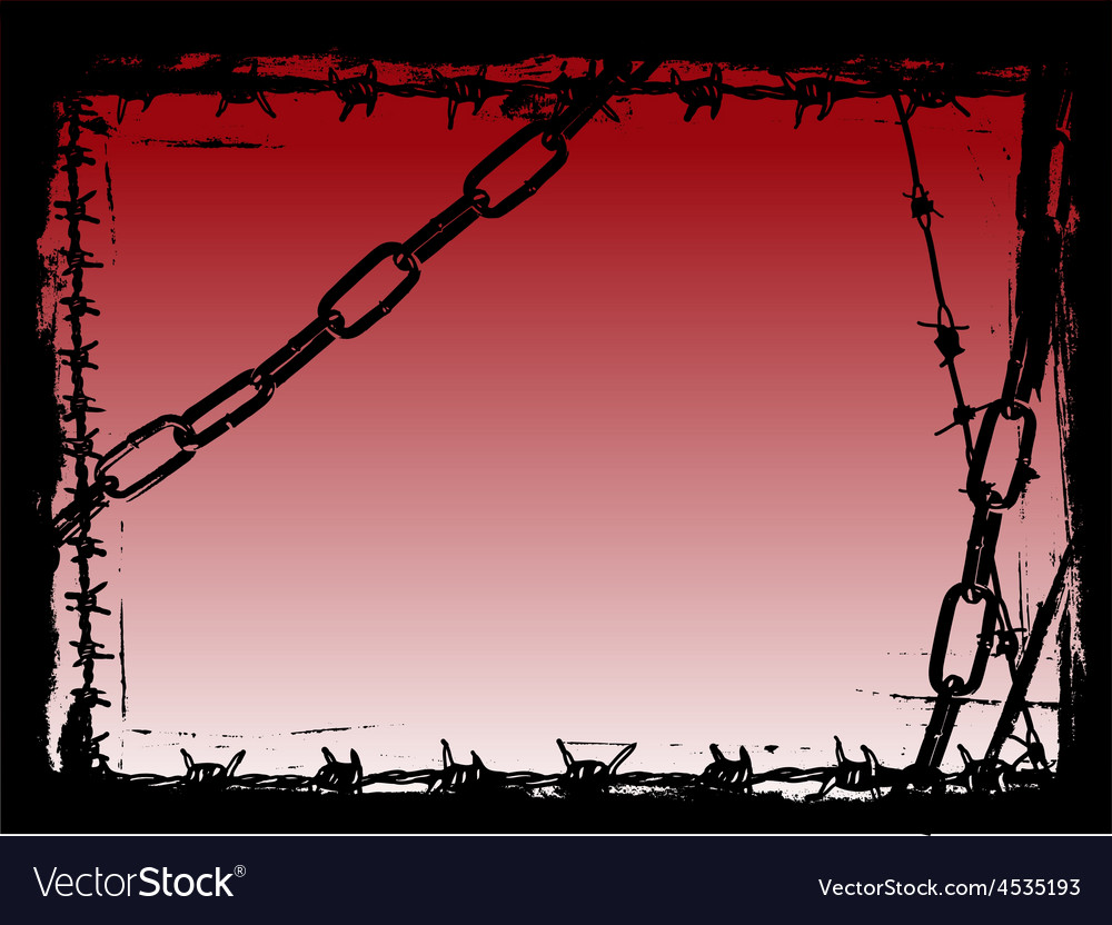 Border of black chains 4 vector | Price: 1 Credit (USD $1)