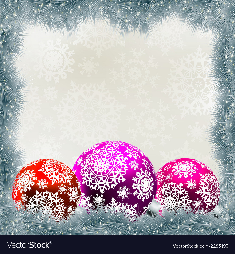 Christmas card with balls eps 8 vector | Price: 1 Credit (USD $1)