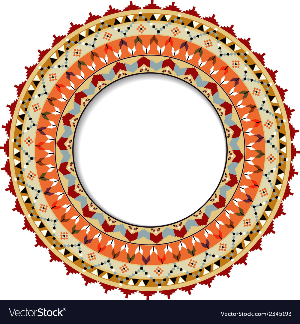 Geometric decorative element in the mexican style vector | Price: 1 Credit (USD $1)