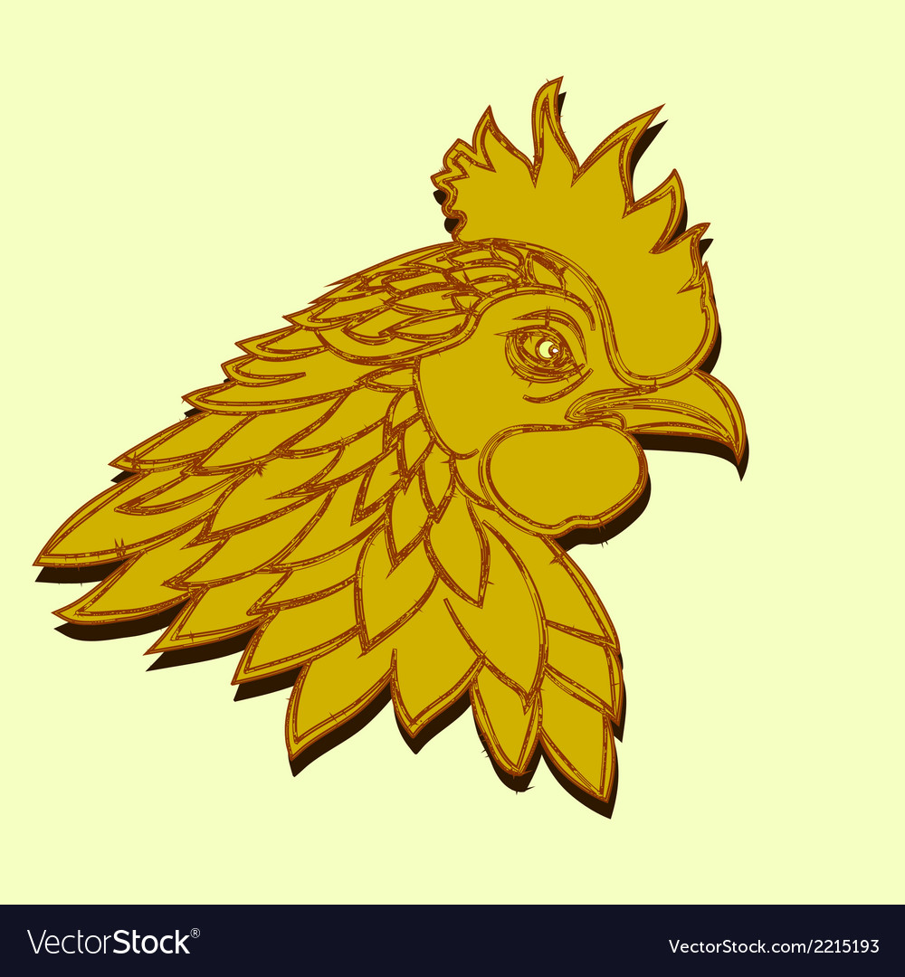Line art - cock vector | Price: 1 Credit (USD $1)