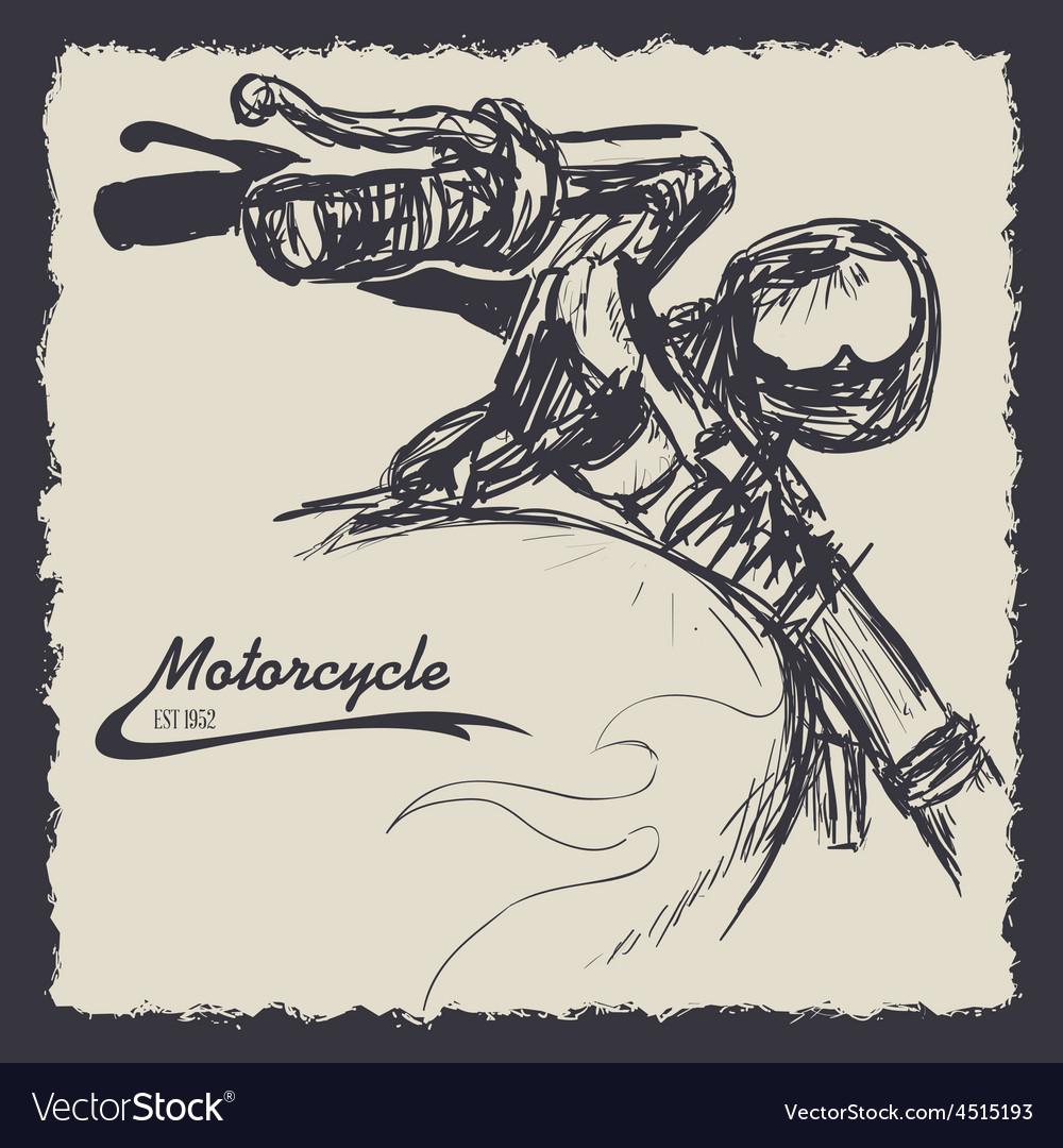 Motorcycle design vector