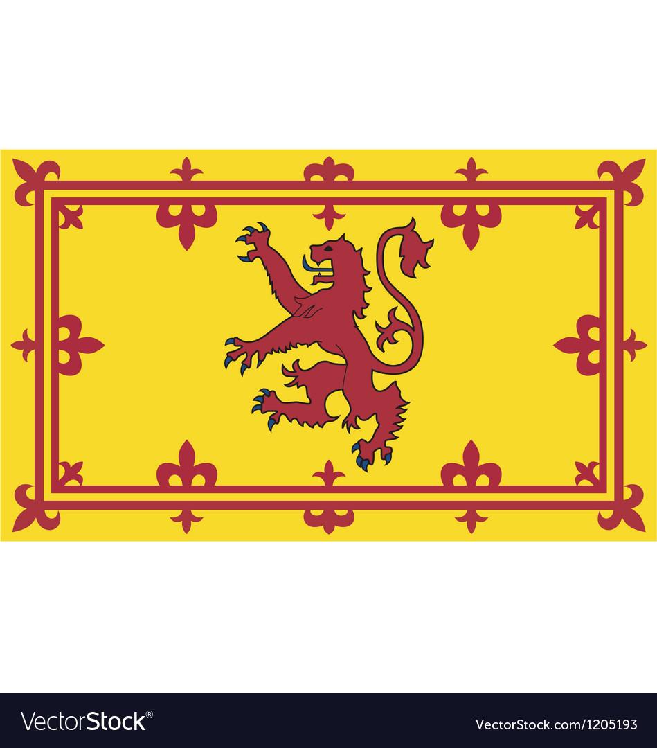 Royal standard of scotland vector | Price: 1 Credit (USD $1)
