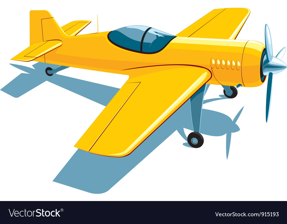 Sport airplane vector | Price: 3 Credit (USD $3)