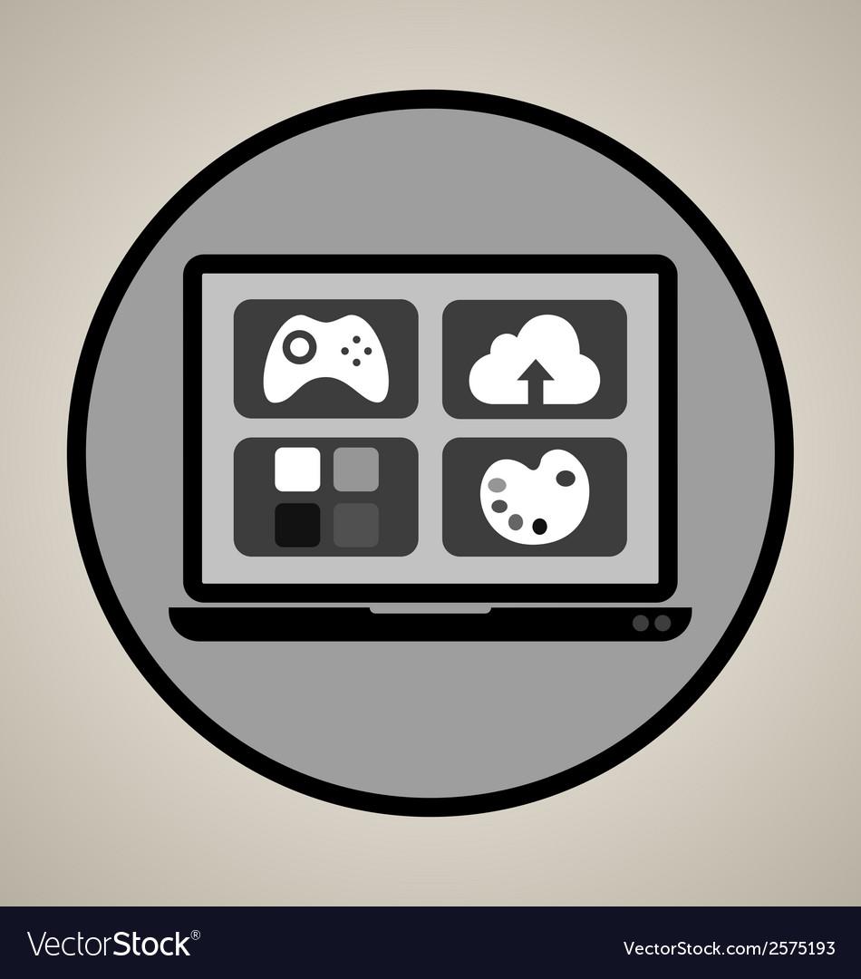 Web development icon vector | Price: 1 Credit (USD $1)