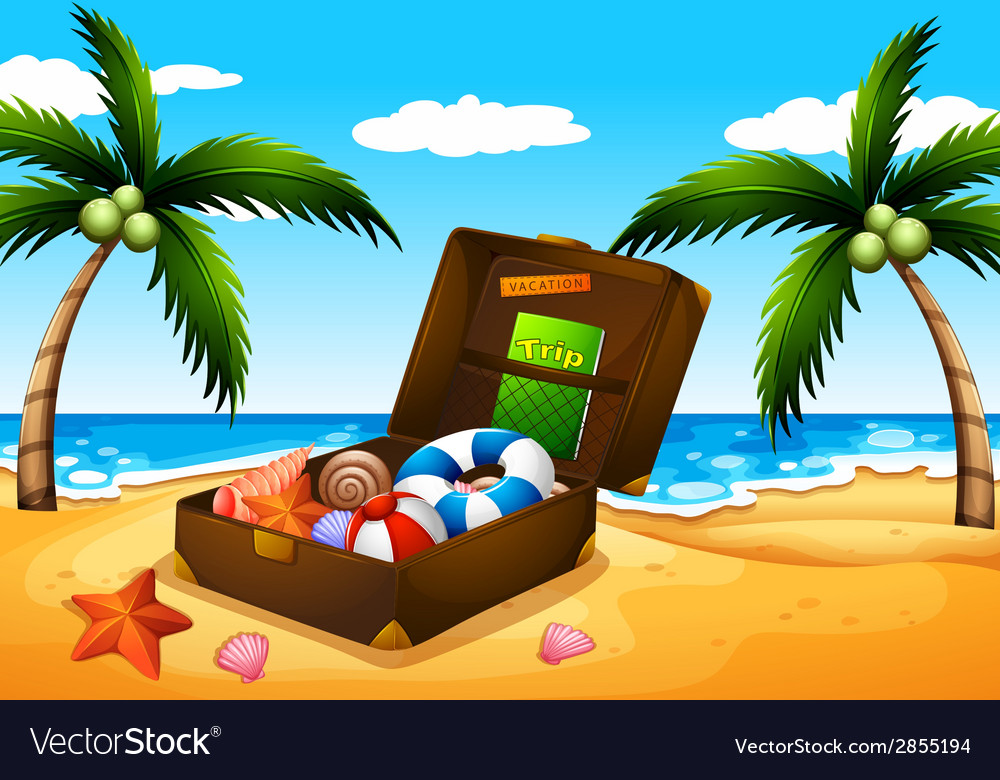 A beach outing vector | Price: 3 Credit (USD $3)