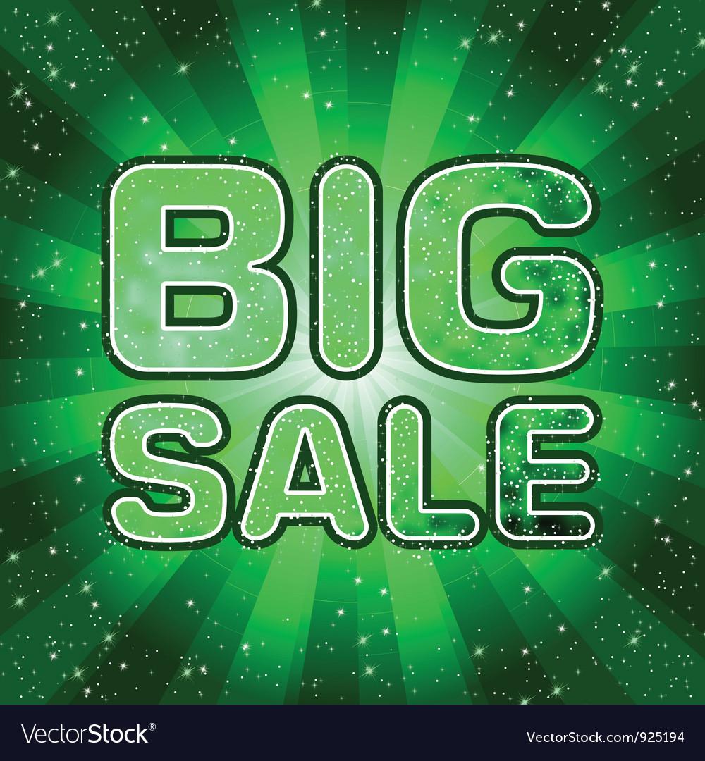 Big sale message eps 8 vector | Price: 1 Credit (USD $1)