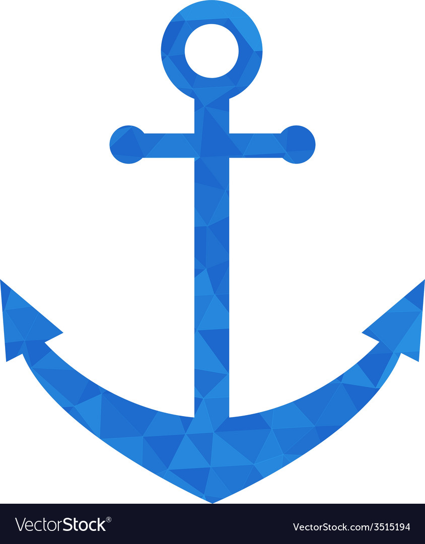 Blue mosaic anchor vector | Price: 1 Credit (USD $1)