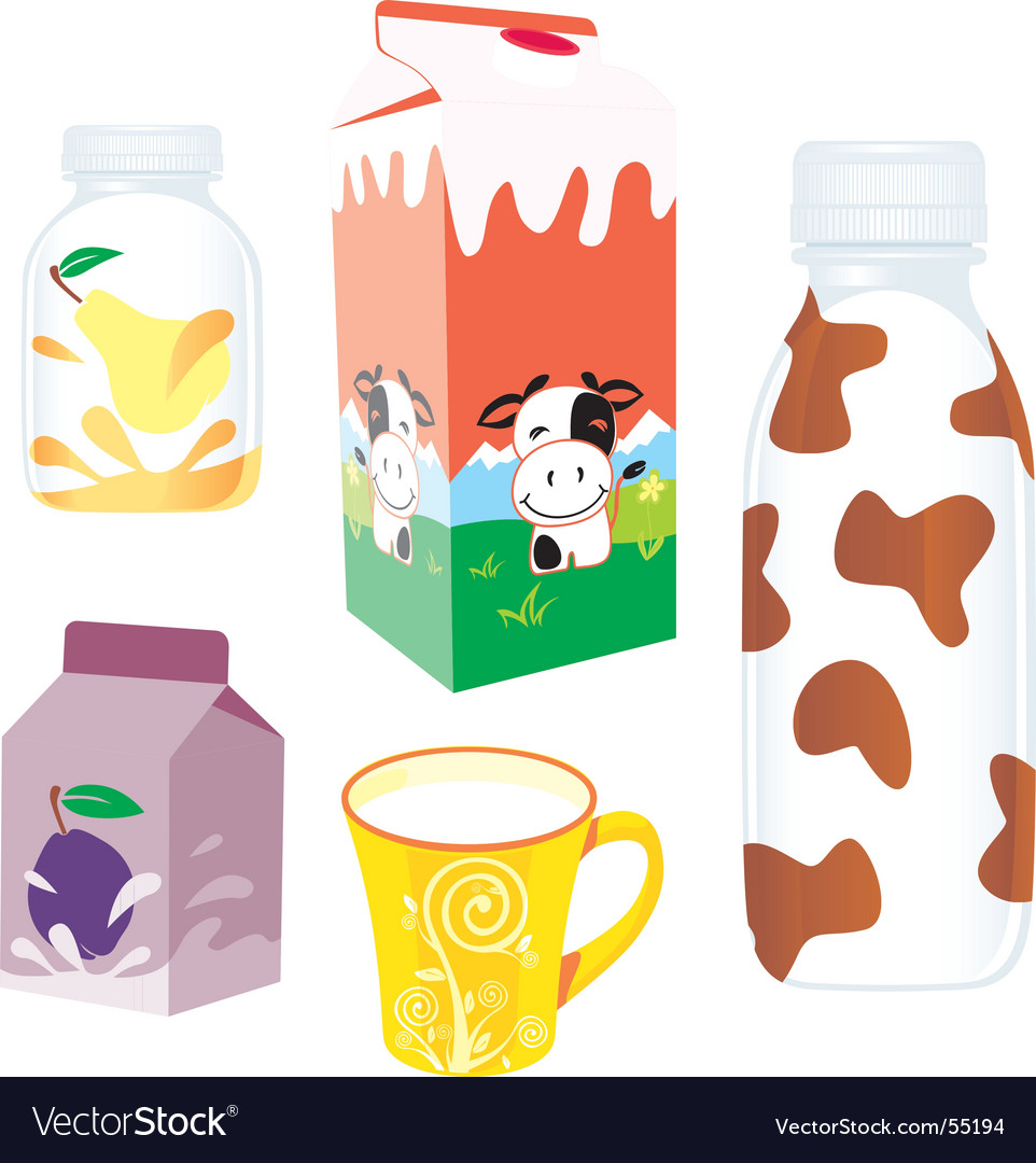 Dairy products vector | Price: 3 Credit (USD $3)