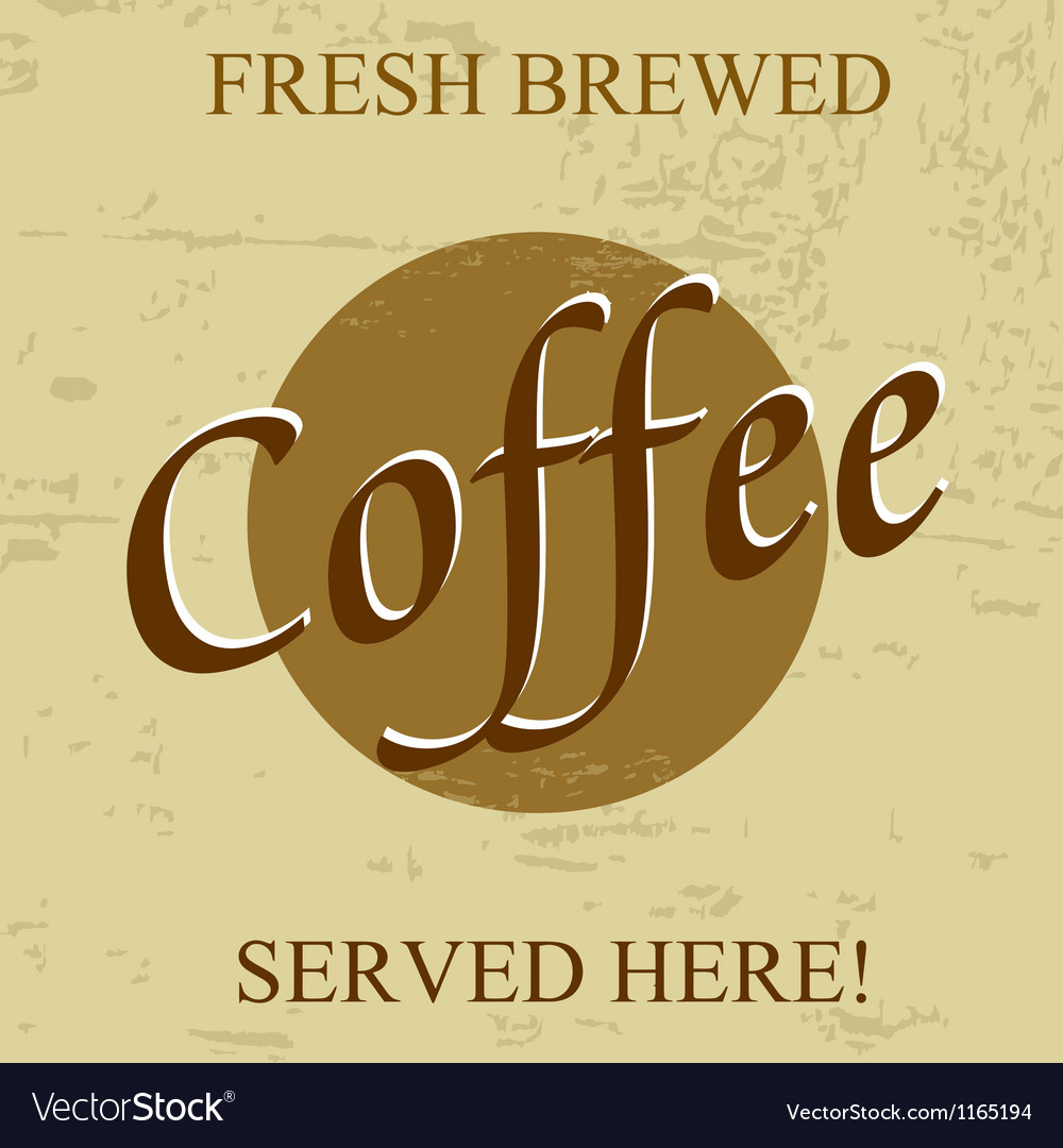 Fresh brewed coffee vector | Price: 1 Credit (USD $1)
