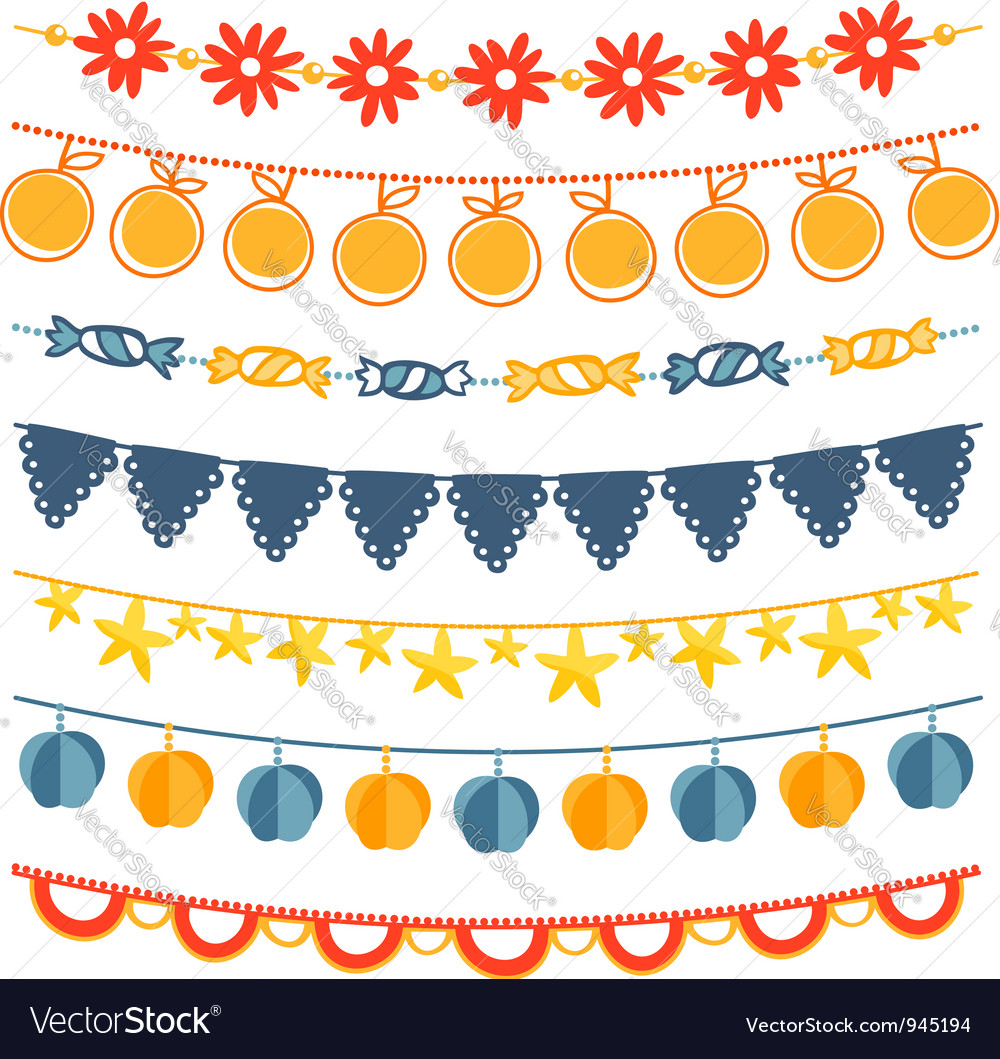 Garland set vector | Price: 1 Credit (USD $1)