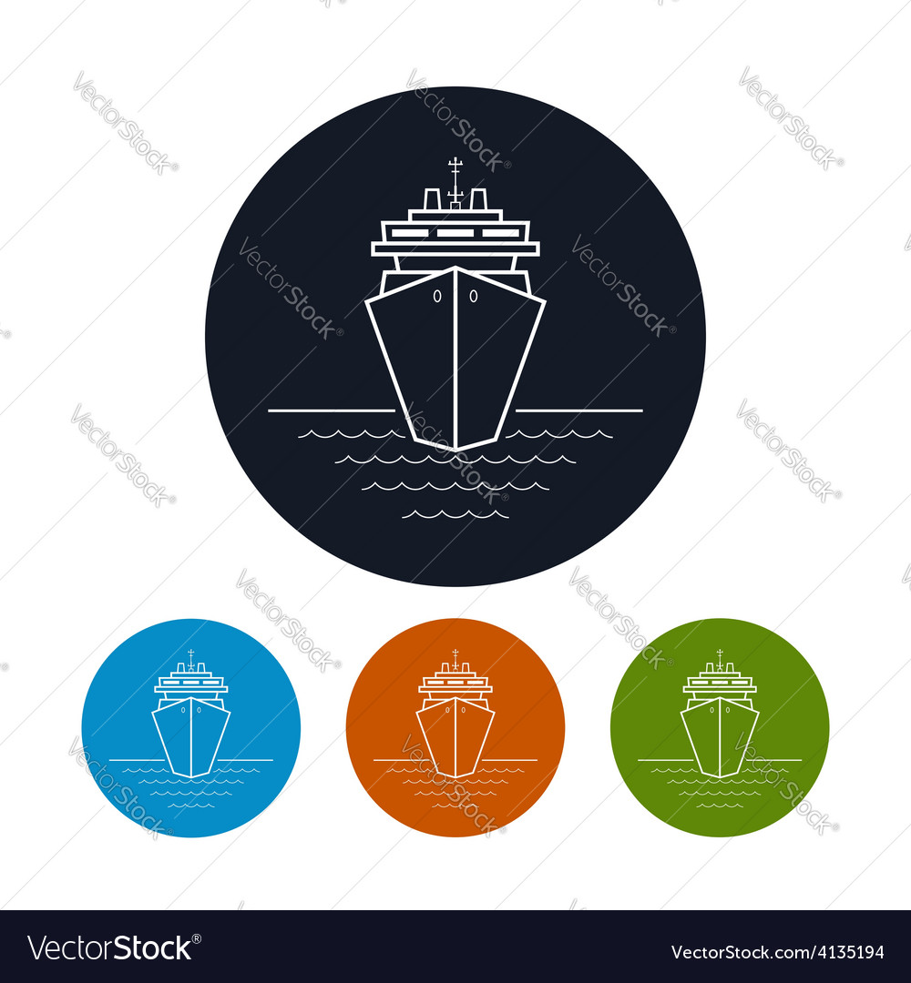 Icon cruise ship or carrier vector | Price: 1 Credit (USD $1)