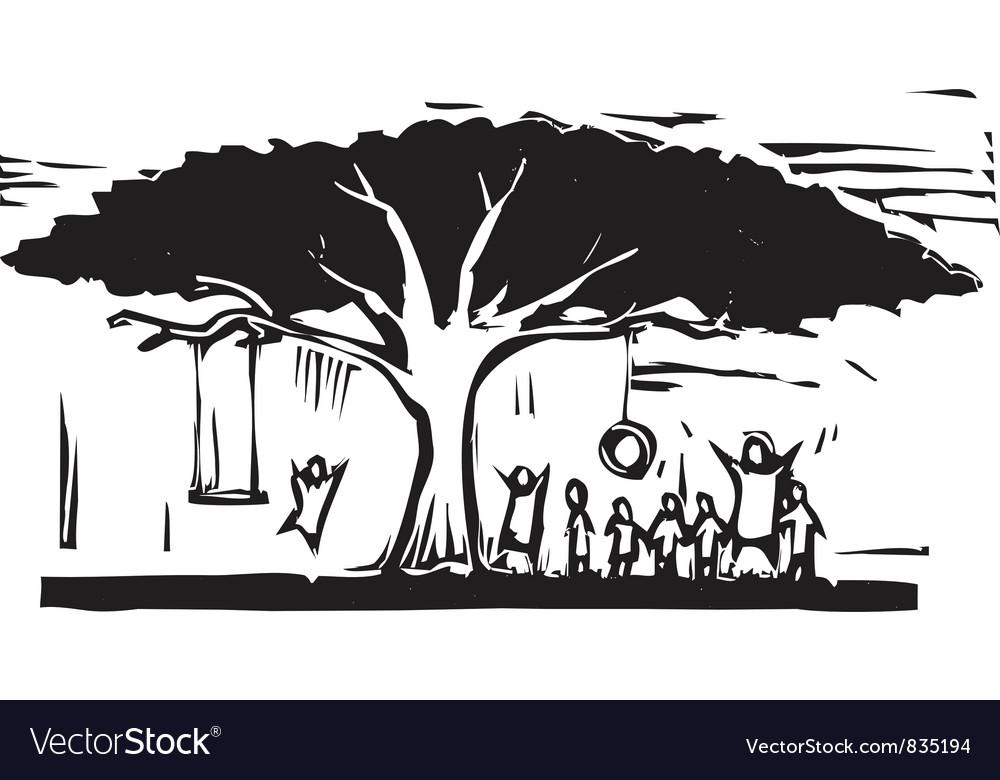 Tree of fun vector | Price: 1 Credit (USD $1)