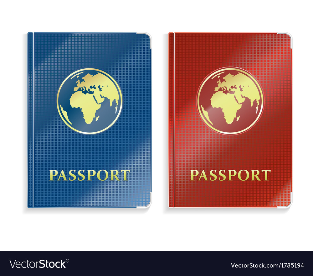 Two passports vector | Price: 1 Credit (USD $1)