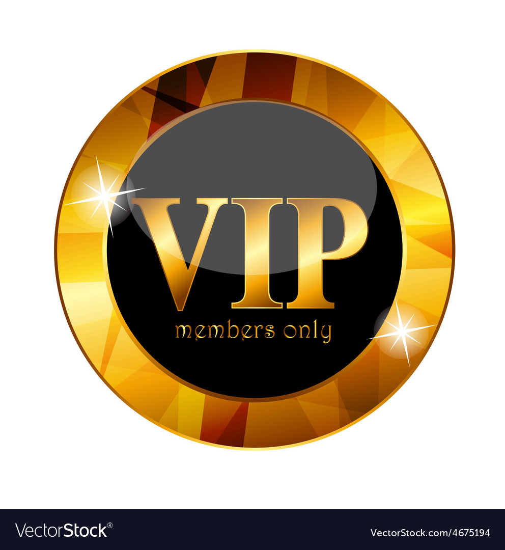 Vip members label vector | Price: 1 Credit (USD $1)