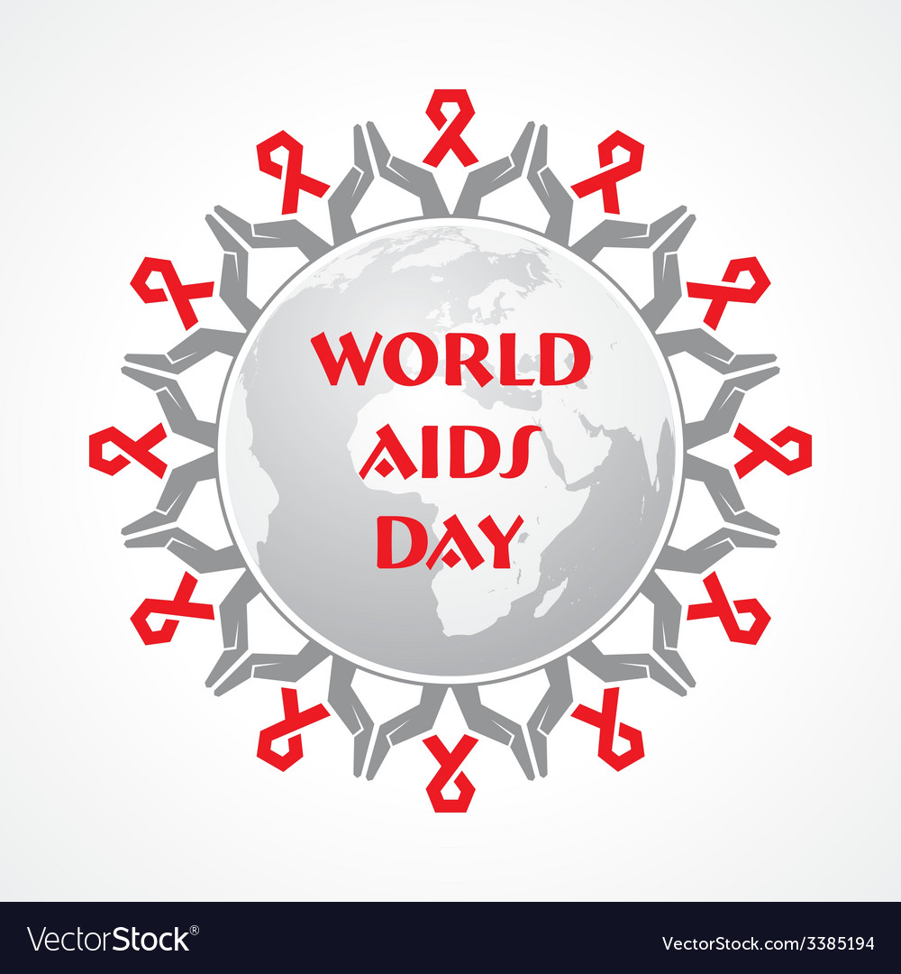 World aids day - hiv awareness concept vector | Price: 1 Credit (USD $1)