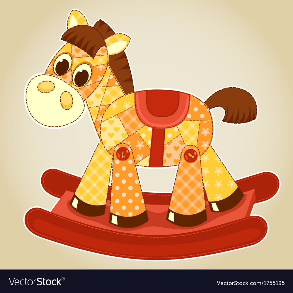 Application rocking horse vector | Price: 1 Credit (USD $1)