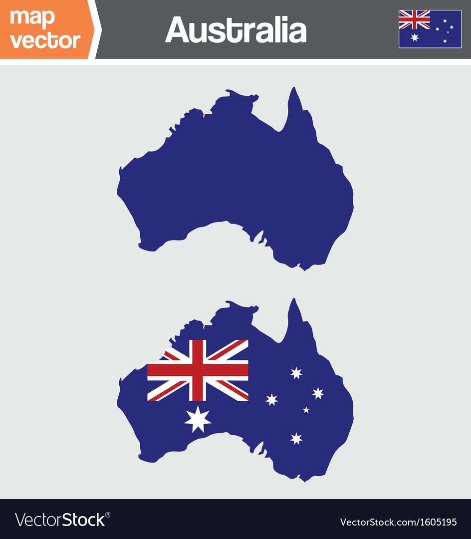 Australian map vector | Price: 1 Credit (USD $1)