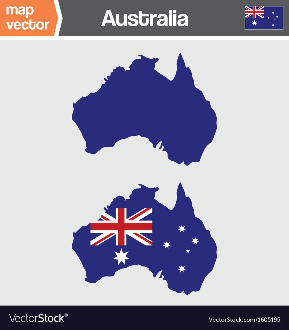 Australian map vector | Price: 1 Credit (USD $1)